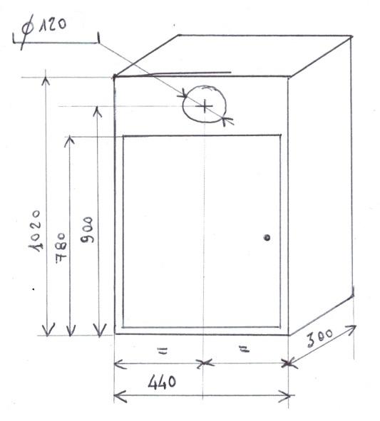 armadietto antigelo per caldaia a gas