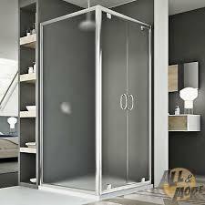 Box bianco ante alluminio misure 90x90x200 cm