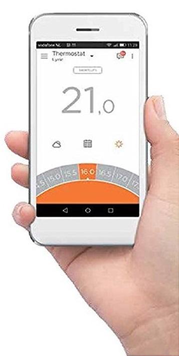 controllo remoto a distanza wireless del riscaldamento