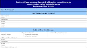 registro apparechhiatura gas